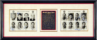 THE DETROIT PISTONS - COLLECTION WITH JOE DUMARS, ISIAH L. THOMAS, CHUCK DALY, TONY CAMPBELL, ADRIAN DANTLEY, SIDNEY GREEN, VINNIE JOHNSON, BILL LAIMBEER, RICK MAHORN, CHUCK NEVITT, DENNIS WORM RODMAN, JOHN SALLEY