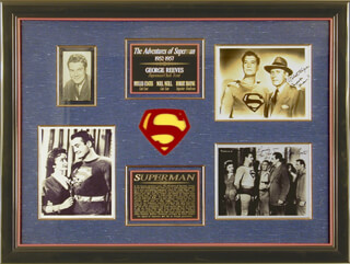 GEORGE SUPERMAN REEVES - COLLECTION WITH PHYLLIS COATES, ROBERT SHAYNE, NOEL NEILL