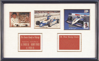 AL UNSER - COLLECTION WITH AL UNSER JR., BOBBY UNSER