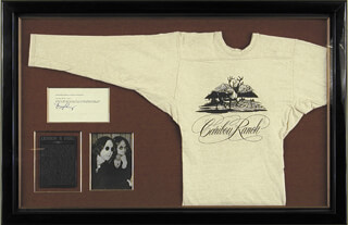 Autographs: THE BEATLES (JOHN LENNON) - COLLECTION WITH MAY PANG