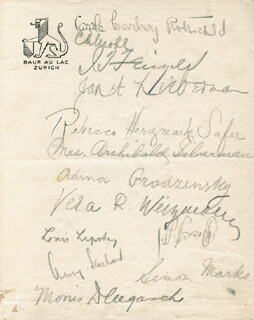 The Zionist Congress Autographs 91569