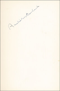 AMELIA M. EARHART - BOOK SIGNED