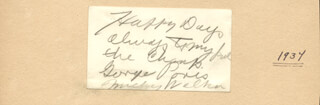 MICKEY THE TOY BULLDOG WALKER - AUTOGRAPH NOTE SIGNED CIRCA 1937