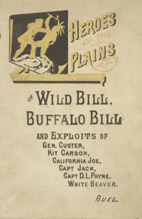 WILLIAM F. BUFFALO BILL CODY - BOOK UNSIGNED