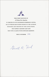 PRESIDENT GERALD R. FORD - BOOK SIGNED 1980