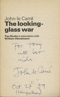 JOHN LE CARRE - INSCRIBED BOOK SIGNED 10/27/1979
