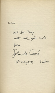 JOHN LE CARRE - INSCRIBED BOOK SIGNED 05/10/1983