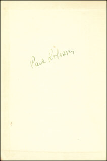 PAUL L. ROBESON - BOOK SIGNED
