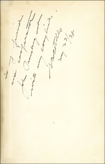 Autographs: SALVATORE A. COTILLO - INSCRIBED BOOK SIGNED 05/23/1938