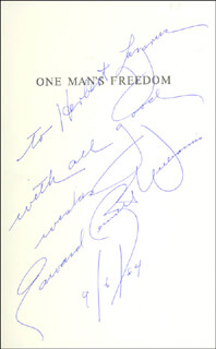 Autographs: EDWARD BENNETT WILLIAMS - INSCRIBED BOOK SIGNED 09/06/1984
