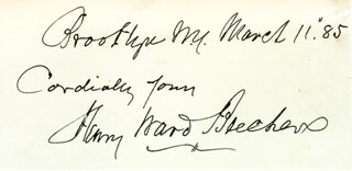Autographs: HENRY WARD BEECHER - COLLECTION