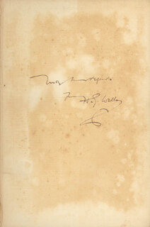 H. G. WELLS - BOOK SIGNED