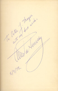 ALEXANDER DE SEVERSKY - INSCRIBED BOOK SIGNED 09/05/1972