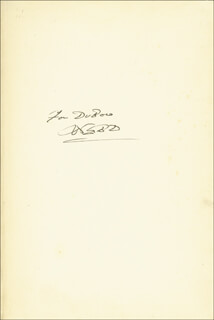 WILLIAM E.B. DU BOIS - INSCRIBED BOOK SIGNED