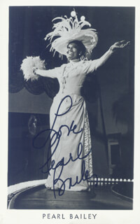 PEARL BAILEY - PICTURE POST CARD SIGNED