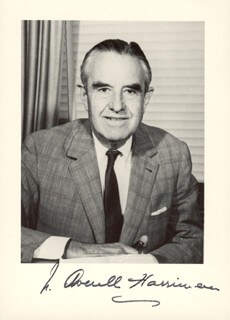 Autographs: W. AVERELL HARRIMAN - PHOTOGRAPH SIGNED