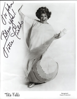 TOTIE FIELDS - AUTOGRAPHED INSCRIBED PHOTOGRAPH