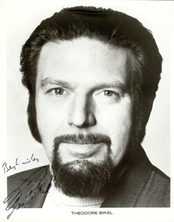 Autographs: THEODORE BIKEL - PRINTED PHOTOGRAPH SIGNED IN INK